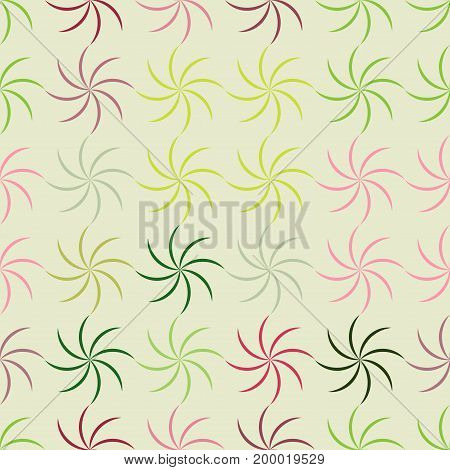 Stars spiral color seamless pattern. Fashion graphic background design. Modern stylish abstract texture. Colorful template for prints textiles wrapping wallpaper website. Vector illustration