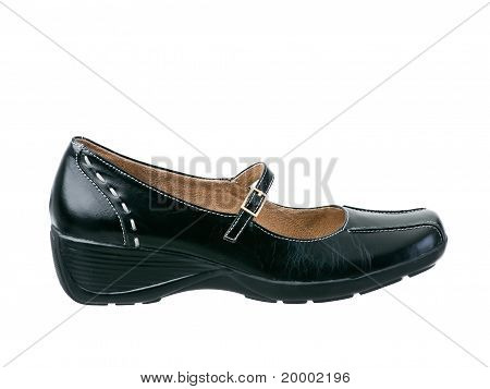 Black Leather Classic Leather Shoe