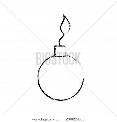 figure nuclear bomb explosion dangerous weapon vector illustration