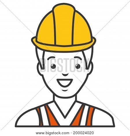 worker with helmet avatar vector illustration design