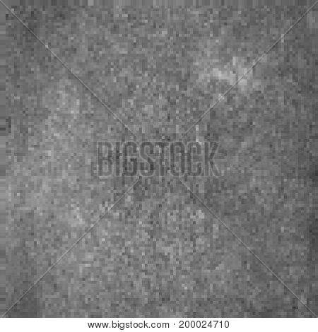gray pixel mosaic. grey squares grid. abstract background. monochrome grunge texture. halftone effect. vector illustration