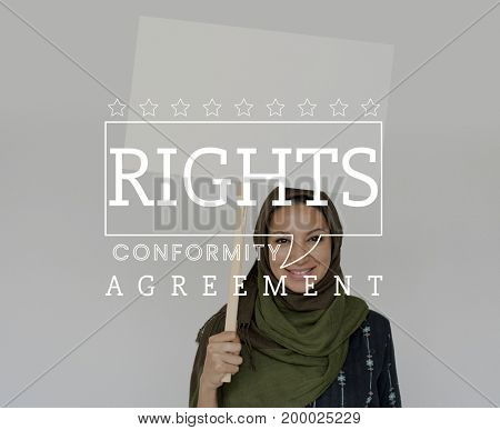 Equality Human Rights Liberty Fight for Freedom Justice Speech Bubble Graphic