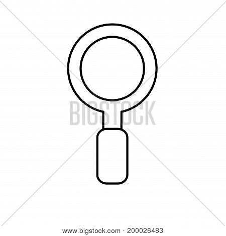 line magnifying glass instrument to exploration search vector illustration