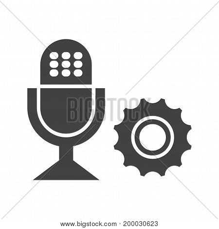 Camera, microphone, headphone icon vector image. Can also be used for news and media. Suitable for mobile apps, web apps and print media.