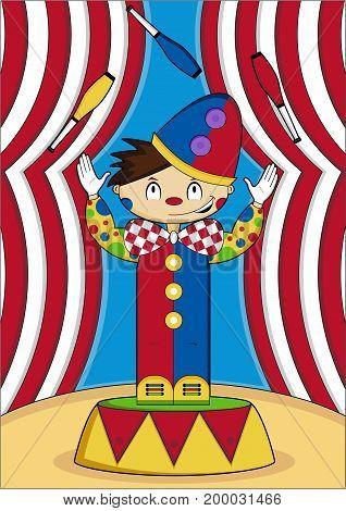 Circus Clown Juggling Scene