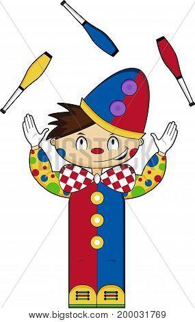 Circus Clown Juggling.eps