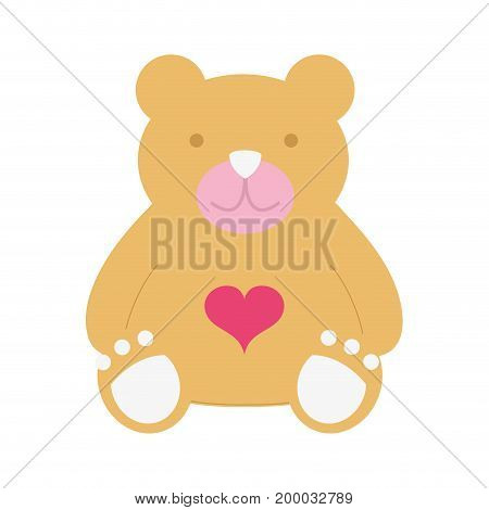 nice teddy bear toy to game vector illustraton