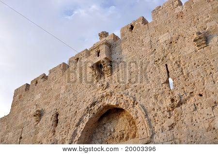 Ancient part of the Jerusalem wall, the former military strengthening