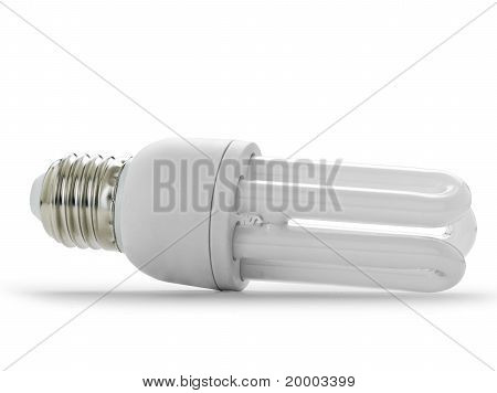 Saving lamp (clipping path)