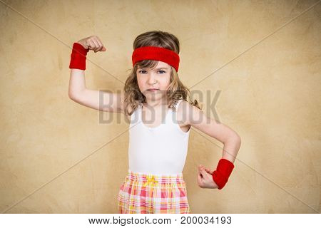 Funny Strong Child