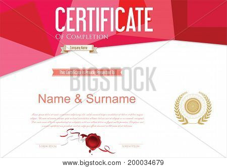 Certificate Or Diploma Retro Design Template Vector Illustration 1.eps