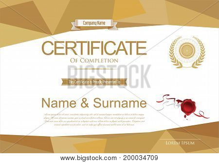 Certificate Or Diploma Retro Design Template Vector Illustration 3.eps