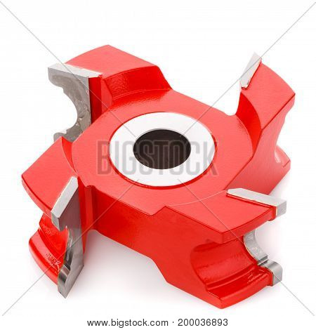 milling cutter head for wood processing, isolated on a white background