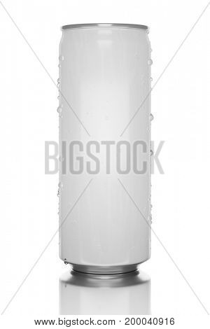 3d illustration of a white energy drink tin