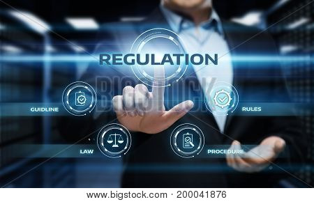 Regulation Compliance Rules Law Standard Business Technology concept.
