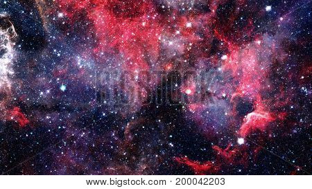 Open Space With Nebulae And Galaxies. Elements Of This Image Furnished By Nasa