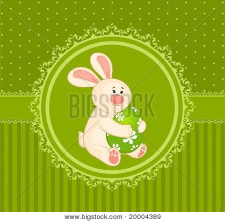 Bunny with colored egg