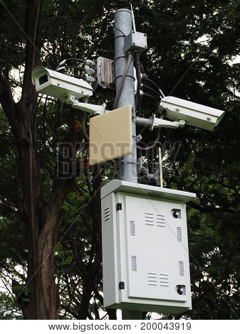 CCTV is best of surveillance and good evidence.