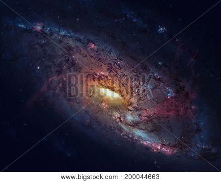 M106, Spiral Galaxy In The Constellation Canes Venatici.