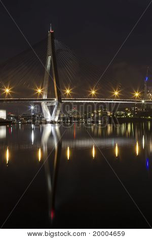 Anzac Bridge At Night Time, Sydney Australia