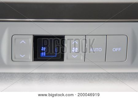 Button to open the air in the car fan button auto button