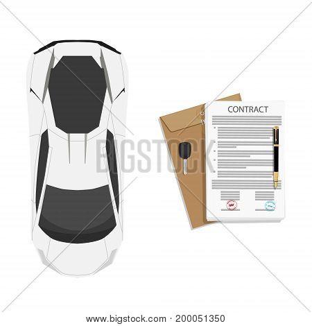 Contract Concept Vector