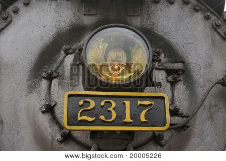 Steam Locomotive 2317 light and faceplate