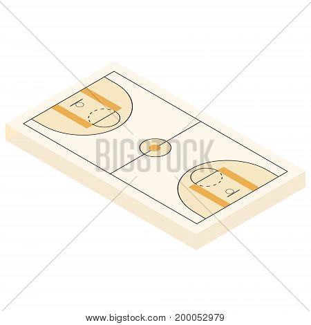 Isometric Basketball Court