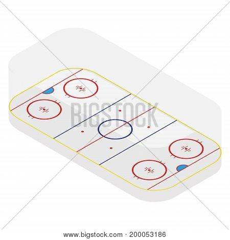Hockey Field Vector