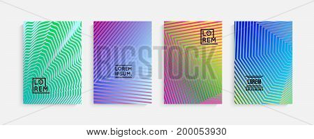 Minimal covers design. Geometric halftone gradients. Eps10 vector