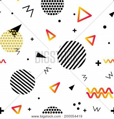 Seamless Chaotic geometry background. Minimal futuristic design. Suitable for posters, covers, prints. stock vector.