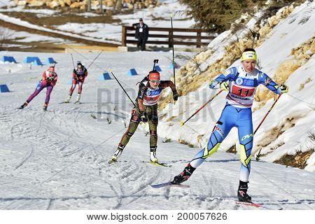 Cheile Gradistei, Roamania - January 30: Unknown Competitor In Ibu Youth&junior World Championships