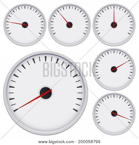 Gauge. Universal blank measuring device. Vector illustration isolated on white background
