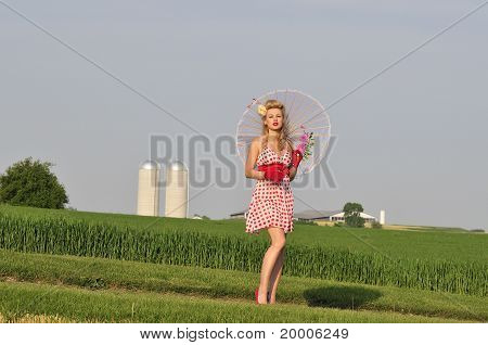 Classy Lady In The Country Side