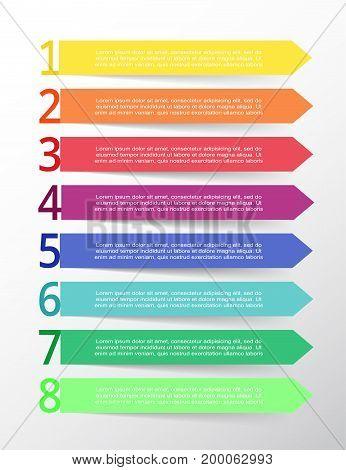 Vector Lines Arrows Infographic.