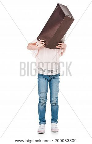 Child With Paper Bag On Head