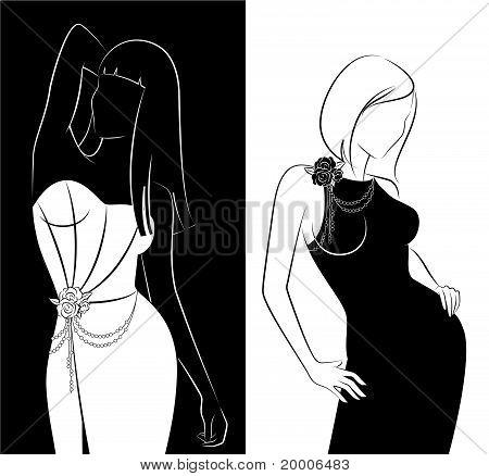 Sexy fashion women in dress