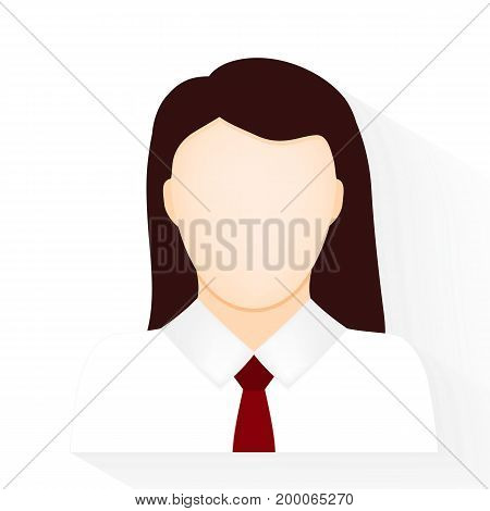 woman icon on a white background vector
