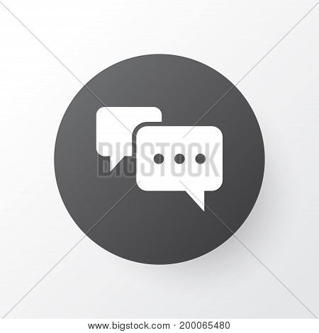 Premium Quality Isolated Chatting Element In Trendy Style.  Conversation Icon Symbol.