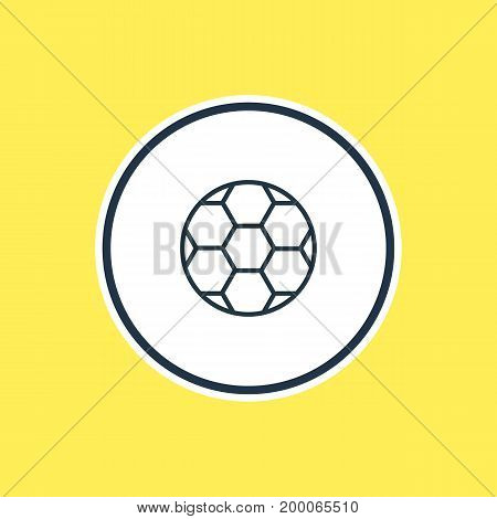 Beautiful Science Element Also Can Be Used As Football  Element.  Vector Illustration Of Ball Outline.