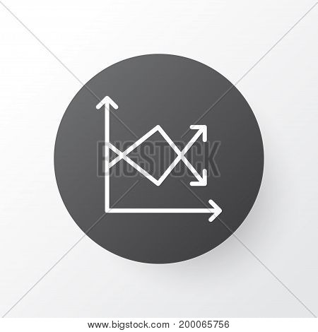 Premium Quality Isolated Reduction Element In Trendy Style.  Fluctuation Icon Symbol.