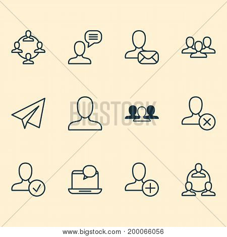Social Icons Set. Collection Of Web Profile, Unity, Teamwork And Other Elements