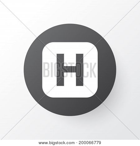 Premium Quality Isolated Hospital Element In Trendy Style.  Infirmary Icon Symbol.