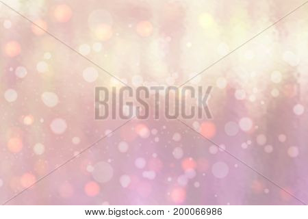 Abstract background with bokeh effect. Vector delicate backdrop. Gentle image blur. Subtle defocused wallpaper. Soft gradient. Pink