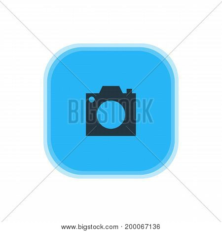 Beautiful Map Element Also Can Be Used As Photo Device Element.  Vector Illustration Of Camera Icon.