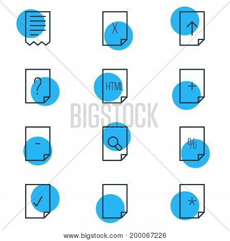 Editable Pack Of Question, Search, Basic And Other Elements.  Vector Illustration Of 12 Page Icons.