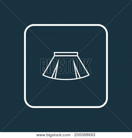 Premium Quality Isolated Mini Element In Trendy Style.  Skirt Outline Symbol.