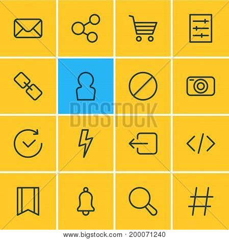 Editable Pack Of Pennant, Photo Apparatus, Ring And Other Elements.  Vector Illustration Of 16 Annex Icons.