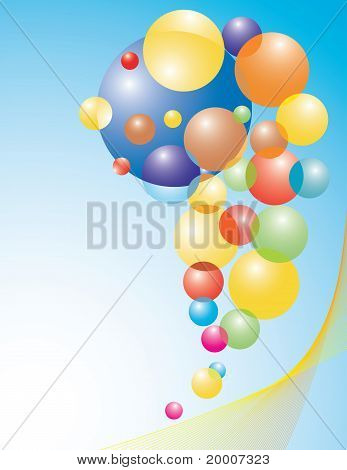 Set Of Colored Balloons