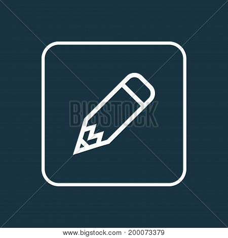 Premium Quality Isolated Edit Element In Trendy Style.  Pencil Outline Symbol.